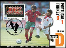 Football Maxicard 1996 Portugal V Turkey Handstamped #C26359