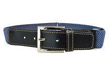 Kids Belts. Childrens 5-15 Yrs Adjustable Elasticated Belt with Leather Fittings