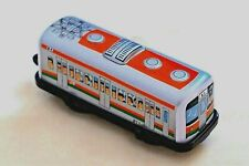 """Japan Vintage Tin Toy New Sanko Lithographed Wind up 4"""" JR Express Train Car"""