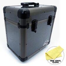 "Gorilla 12"" LP Vinyl Record Carry Storage Case Box - Carbon - Holds 60"