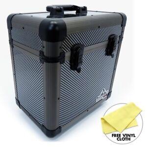 "Gorilla 12"" LP Vinyl Record Carry Storage Case Box - Carbon - Holds 60 inc Cloth"