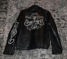 rare Nightmare Before Christmas jack skellington Leather Jacket medium