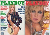 PLAYBOY Lot of 2 October & November 1989-Donna Mills Pics, Keith Richards Intvw