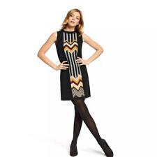 Elegant New MISSONI Zig Zag Stripes Sleeveless Crewneck Sweater Dress sz Large
