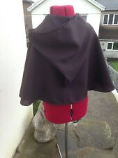 brown cape ewok style cape cloak  medieval villager short  robe childs