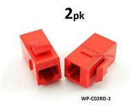 2-PACK CAT6 Female/Female RJ45 Ethernet Red Keystone Jack Coupler, WP-C02RD