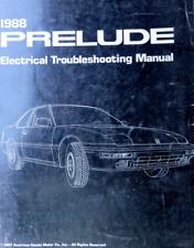 1988 Honda Prelude Electrical Troubleshooting Wiring Diagram Manual EWD ETM OEM