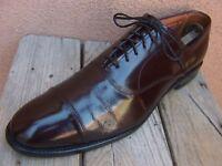 ALLEN EDMONDS PARK AVENUE Mens Dress Shoes Rich Burgundy Cap Toe Oxford Size 10A