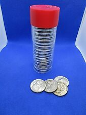 One Red Capsule Tube & 20 Air-Tite 30mm Black Ring Coin Holder for Half Dollars