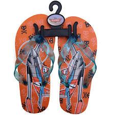 1 Pair Disney Planes flip flops beach sandals shoe for Boys orange thongs