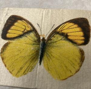 Antique Old Mill Cigarettes Silk Tobacco Card Rare Butterfly Series - Cigarette