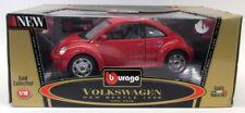 Burago 1/18 Scale Diecast 3342 Volkswagen New Beetle 1998 Red Model Car