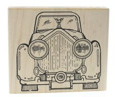 Art Gone Wild Fancy Car Front  Automobile Wooden Rubber Stamp