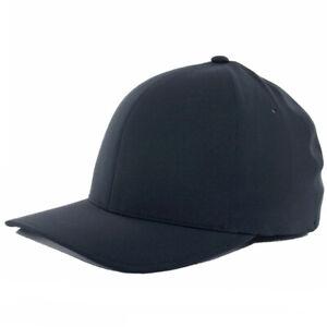 "Flexfit ""Delta"" Tech Hat Black Mens Blank Lightweight Athletic Nylon Uniform Cap"