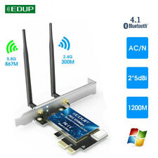 EDUP AC1200Mbps Bluetooth 4.1 Wifi adapter PCI-E Wireless Network Card 2.4G/5Ghz