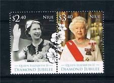 Niue 2012 Royal Diamond Jubilee 2v Se-ten pr MNH