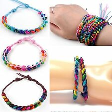 X2 Friendship Bracelets Beads Jewellery Handmade Cuff Bangles Boho Beach Hippie