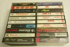 Lot of 20 Rock & Metal Music Cassette Tapes 80s 90s Crue Scorpions Ozzy Maiden