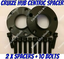 Alloy Wheel Spacers 25mm Bmw X3 X4 F25 F26 M14X1.25 Extended Bolts Blk Cruize