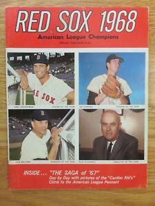 1968 RED SOX Yearbook CARL YASTRZEMSKI TONY CONIGLIARO