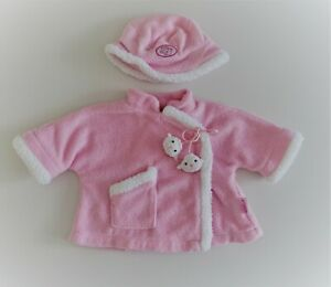 Baby Annabell Doll Clothes Jacket & Matching Hat