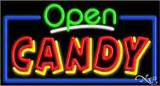 "Brand New ""Open Candy"" 37x20 Real Neon Business Sign W/Custom Options 15476"