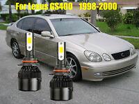 LED For Lexus GS400 1998-2000 Headlight Kit 9006 HB4 White CREE Bulbs Low Beam