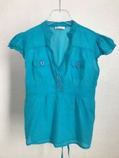 URBAN OUTFITTERS TOP TURQUOISE BLUE CASUAL SIZE EUR 42 UK 14