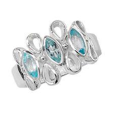 Topaz Three-Stone Sterling Silver Fine Gemstone Rings