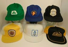 Vintage Trucker Hat Lot of 6 1980s Farm Patch Snapback Trucker Hat MADE IN USA H