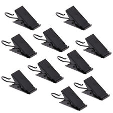 10pcs Black Iron Curtain Clips with Rings for Holding Heavy Curtains Drapes