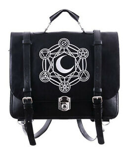 Restyle Gothic Moon Messenger Backpack and Crossbody Bag