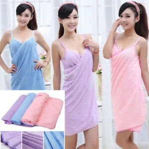 Multi-functional Towel Women Bath Robes Wearable Dress Lady Fast Drying Beach