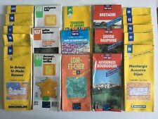 LOT 22 cartes routières + guides touristiques Michelin / IGN années 1990