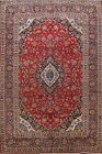 Vintage Floral Traditional Ardakan Hand-knotted Area Rug Oriental Carpet 9x13 ft