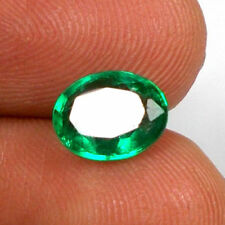 1.4cts Natural Emerald Top Luster 8X6mm Loose Gemstone Nice Stone Ring Size