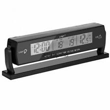 Car Voltage Monitor Battery Alarm Temperature Thermometer Clock Display