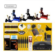 Professional Rotary Tattoo Machine Kit 3 Gun Supply Power 20 Colors and Inks Set