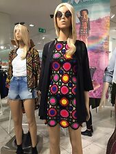 H&M Loves Coachella Festival Crocheted Multicolor Dress - UK 6 / EU 32 / US 2