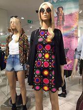 H&M Loves Coachella Festival Crocheted Multicolor Dress - UK 8 / EU 34 / US 4