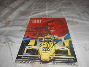 INDIANAPOLIS 500 YEARBOOK 1987 AUTOGRAPHED BY AL UNSER