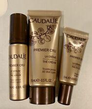 3x Samples CAUDALIE Premier Cru The Cream 0.5 oz Eye Cream 0.16 oz Serum 0.33 oz