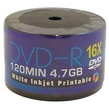 Aone 50 Pack Blank DVD-R White Full Ink Inkjet Printable Disc Media 16x 4.7GB