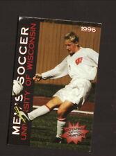 Wisconsin Badgers--1996 Soccer Pocket Schedule--University Bookstore