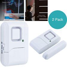 Home Security Alarm 2Pc Door Window Wireless Alarms Easy Installation Loud Sound