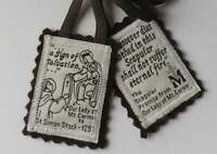Traditional Brown Scapular of Our Lady 100% Pure Brown Wool