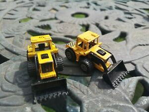 Vintage 1976 Matchbox Superfast no 29 Yellow Ford Tractors with shovels Diecast