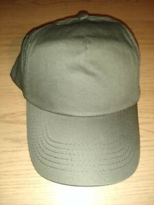 army green beechfield baseball style cap - brand new with tags