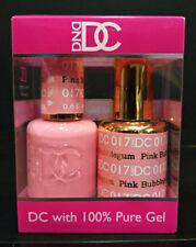 DND DC Soak Off Gel Polish Pink Bubblegum 017 LED/UV 6oz 18ml Gel Duo Set NEW