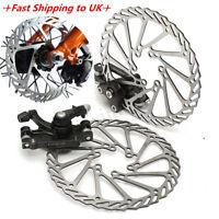 Mechanical Disc Brake MTB Bike Cycling Bicycle Front + Rear Caliper 160mm Rotors